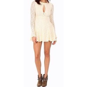 Free People Teen Witch Fit Lace Flare Dress